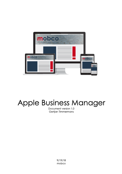 Apple Business Manager Mobco