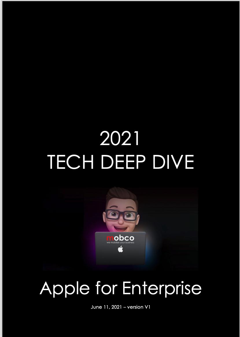Apple For Enterprise Tech Deep Dive 2021